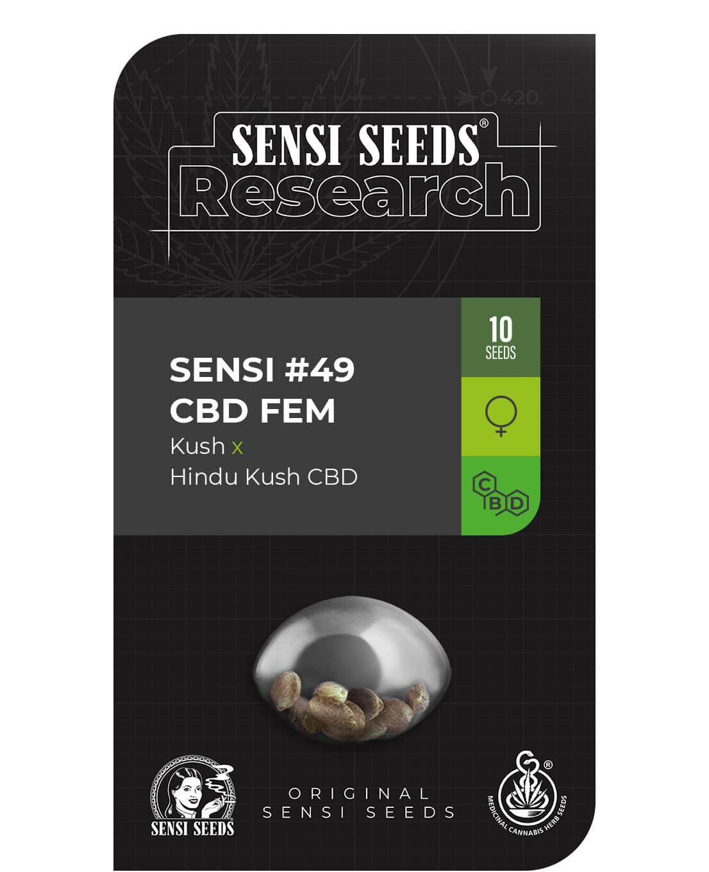 Sensi #49 CBD Feminised Seeds (Kush x Hindu Kush CBD)